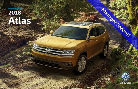 New 2018 Volkswagen Atlas Highline AWD w/ Leather/Sunroof/Backup Camera/App Connect