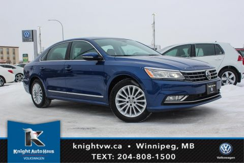 Certified Pre-Owned 2017 Volkswagen Passat Comfortline w/Leather/Sunroof/Drive Assist/Nav 0.9% Financing Available OAC.