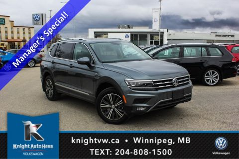 New 2018 Volkswagen Tiguan Highline AWD w/ Digital Dash/Leather/Sunroof/Backup Cam/Nav