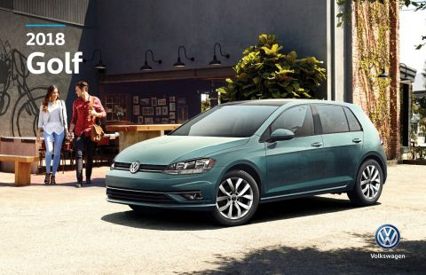 New 2018 Volkswagen Golf Highline Auto w/ Leather/Sunroof/Nav/Backup Camera/App Connect