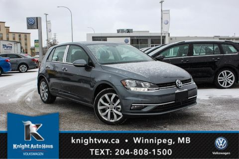New 2018 Volkswagen Golf Highline w/ Leather/Sunroof/App Connect/Backup Camera