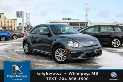Certified Pre-Owned 2018 Volkswagen Beetle Trendline w/App Connect 0.9% Financing   Available OAC.