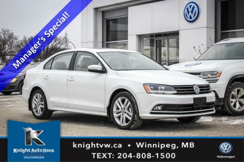 New 2017 Volkswagen Jetta Sedan Highline w/ Leather/Lane Change Assist 0.9% Financing Avail. OAC
