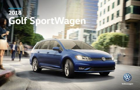 New 2018 Volkswagen Golf SportWagen Highline AWD Manual w/ Leather/Sunroof/App Connect