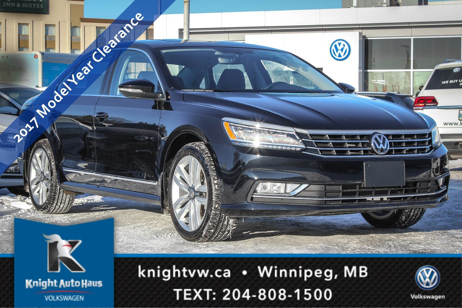New 2017 Volkswagen Passat Comfortline w/ Leather/Sunroof/Nav/Backup Cam