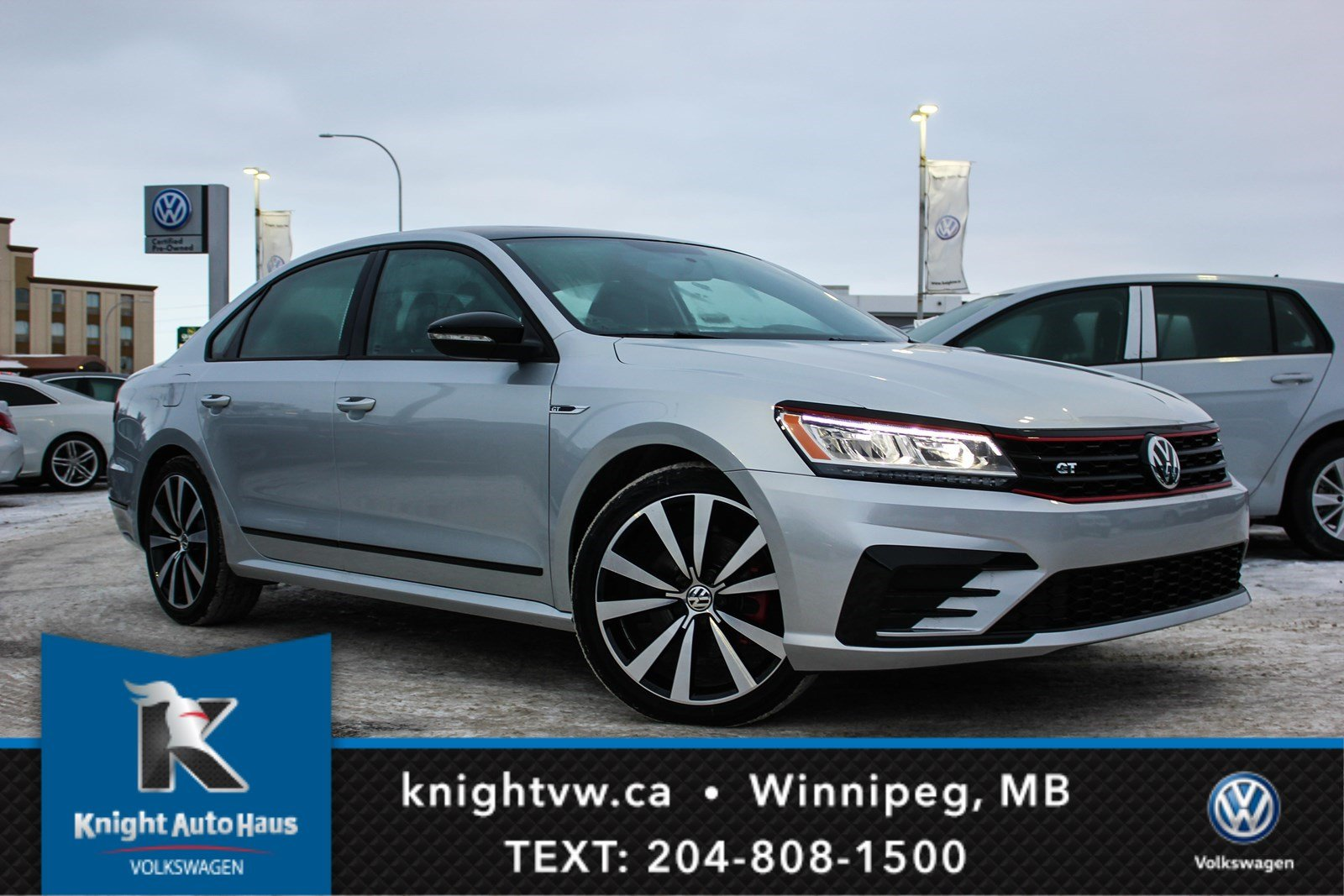 Certified Pre-Owned 2018 Volkswagen Passat GT w/Nav/Leather/Sunroof With 0.9% Financing Available OAC.