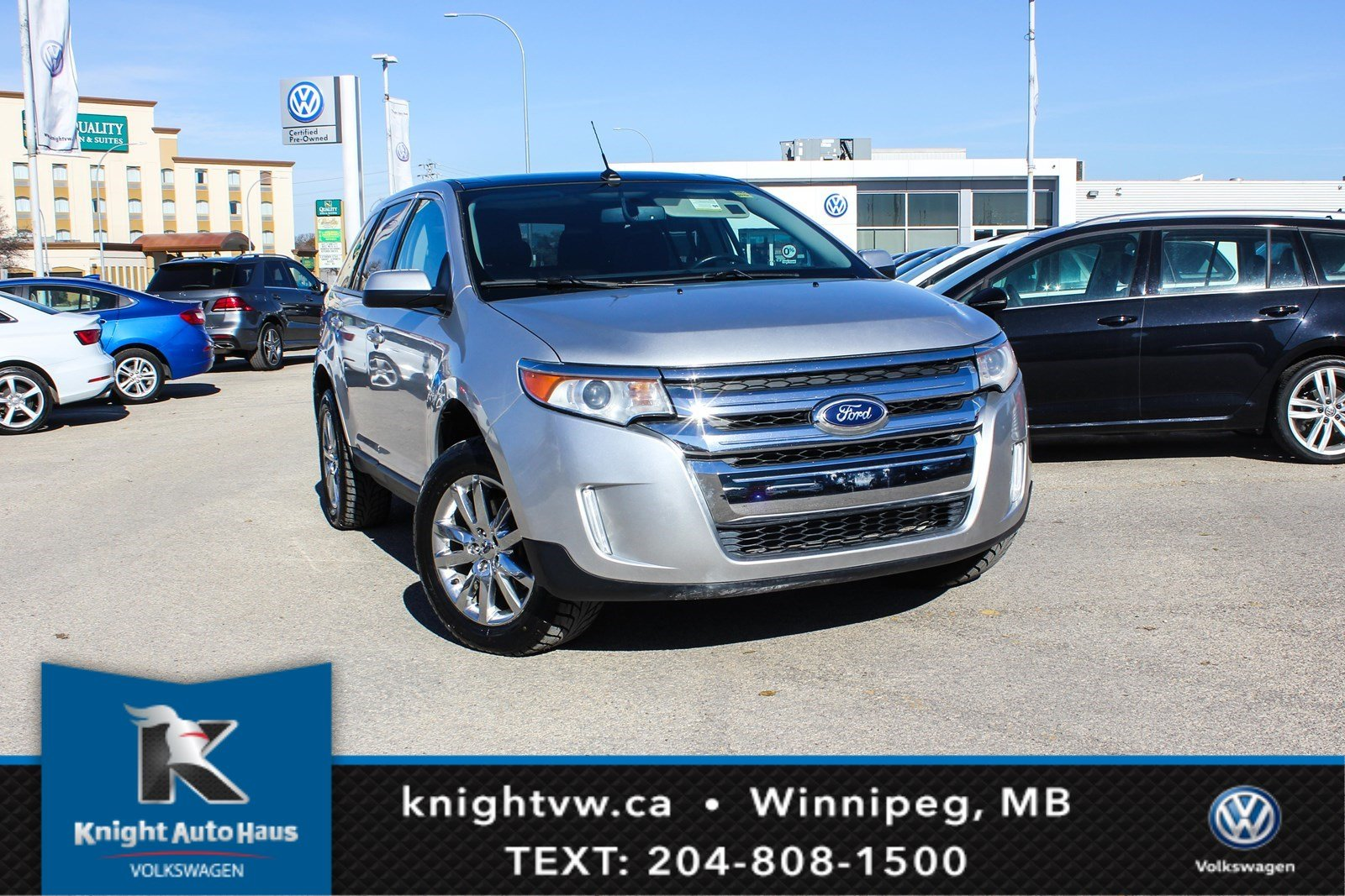 Pre Owned  Ford Edge Awd Sel W Nav Leather Sunroof