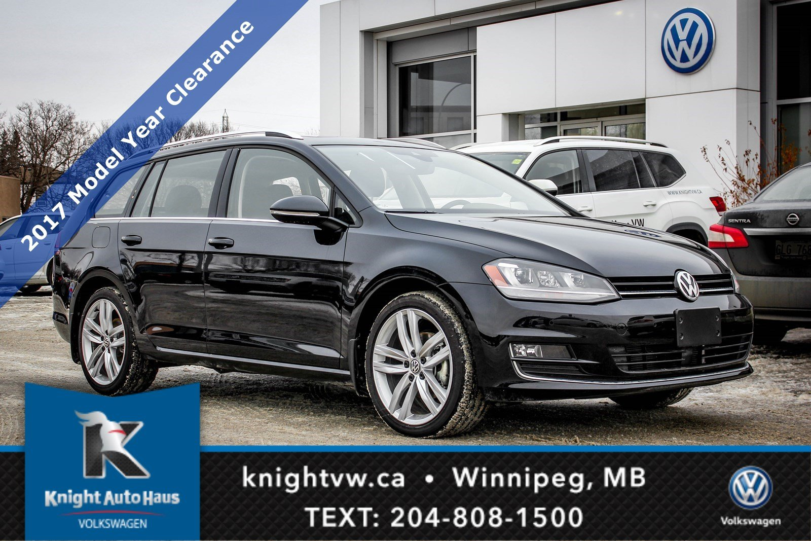 2017 Volkswagen Golf SportWagen Highline w Leather Nav Sunroof