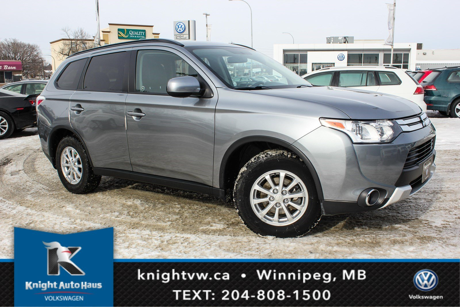 Pre-Owned 2015 Mitsubishi Outlander ES AWD w/Leather/Sunroof/Remote Starter