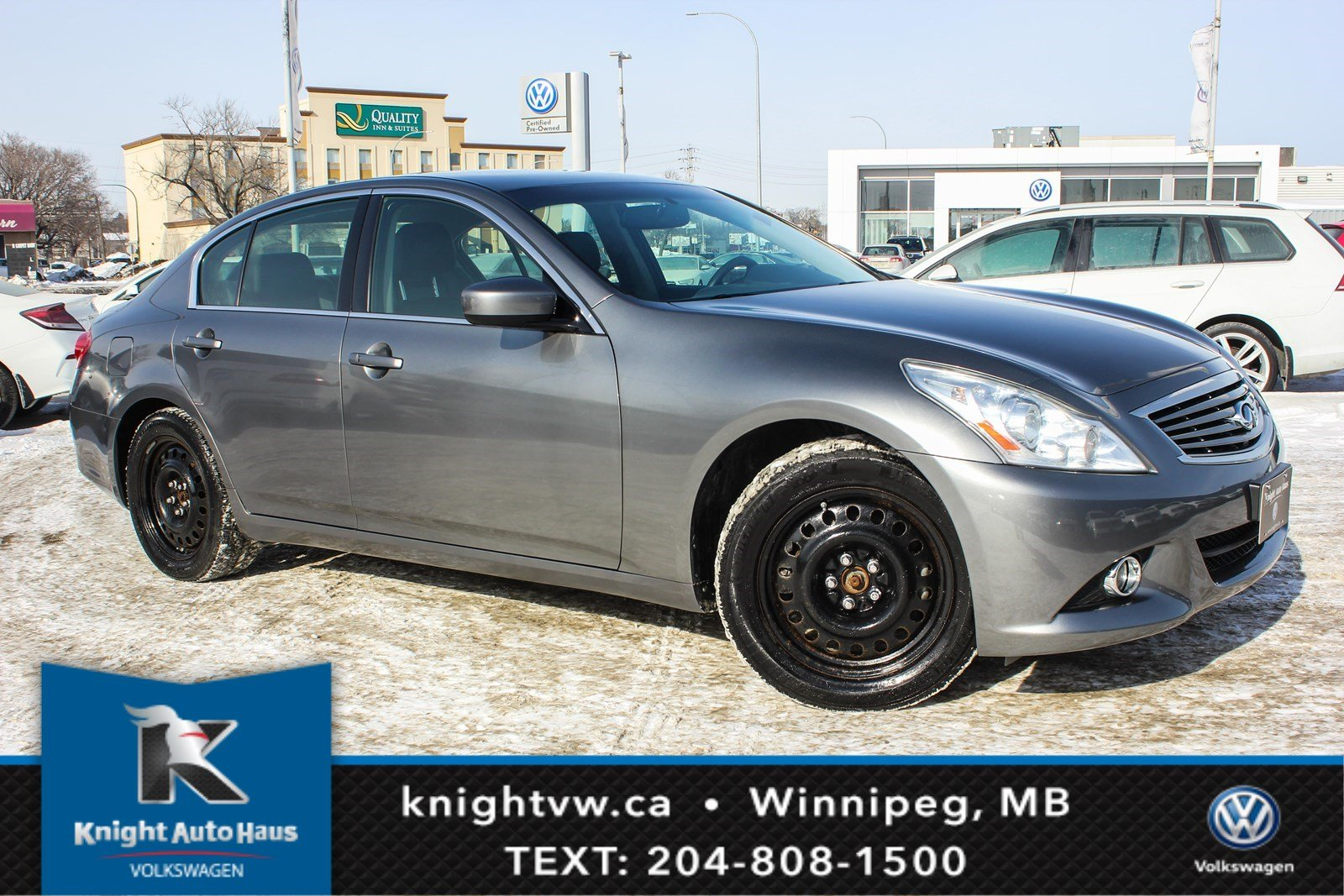Pre-Owned 2012 INFINITI G37 Sedan Luxury w/ Leather/Sunroof/Winter Tires Rims