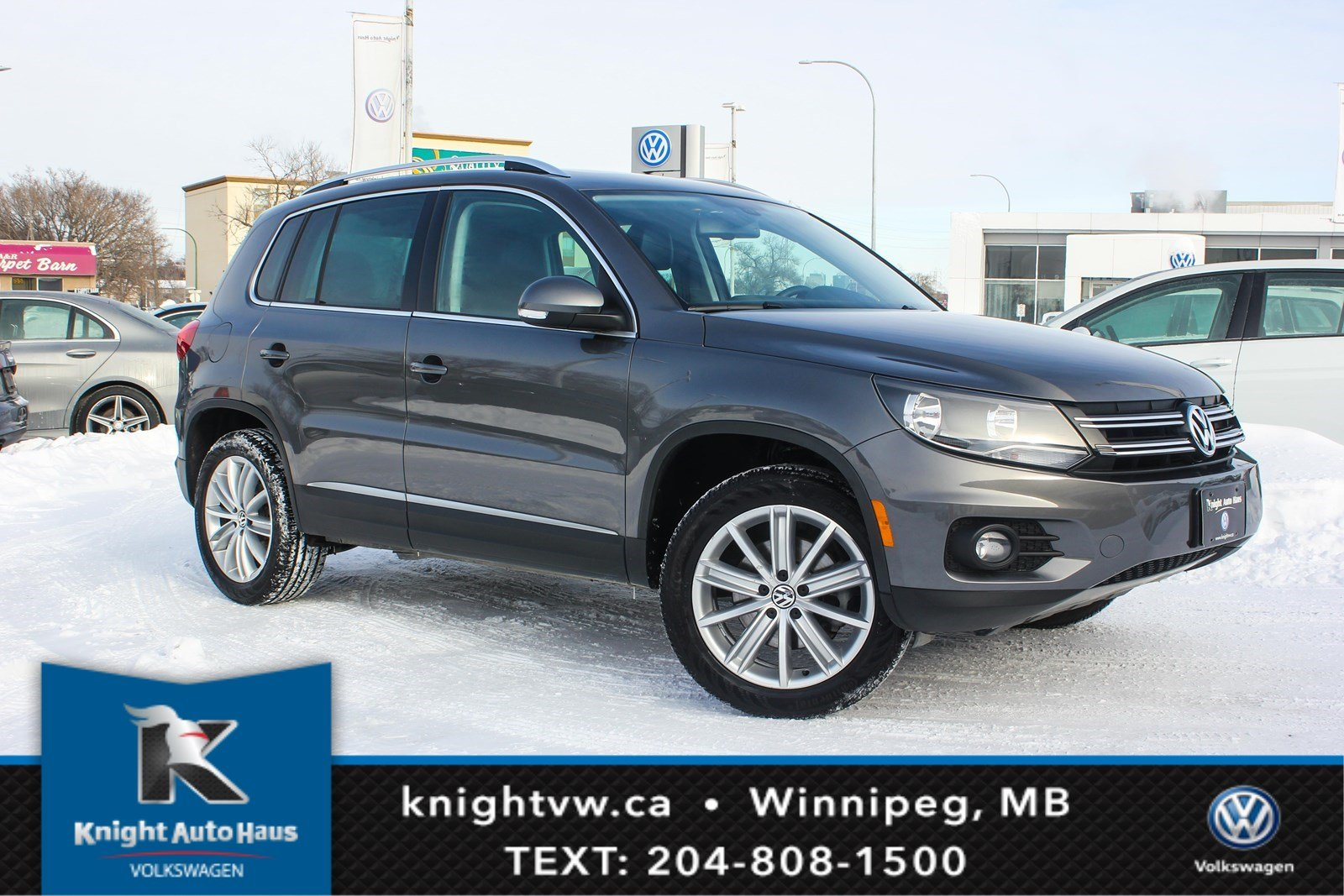 Certified Pre-Owned 2014 Volkswagen Tiguan Highline AWD w/Nav/Fender Sound/Leather 0.9% Financing Available OAC.