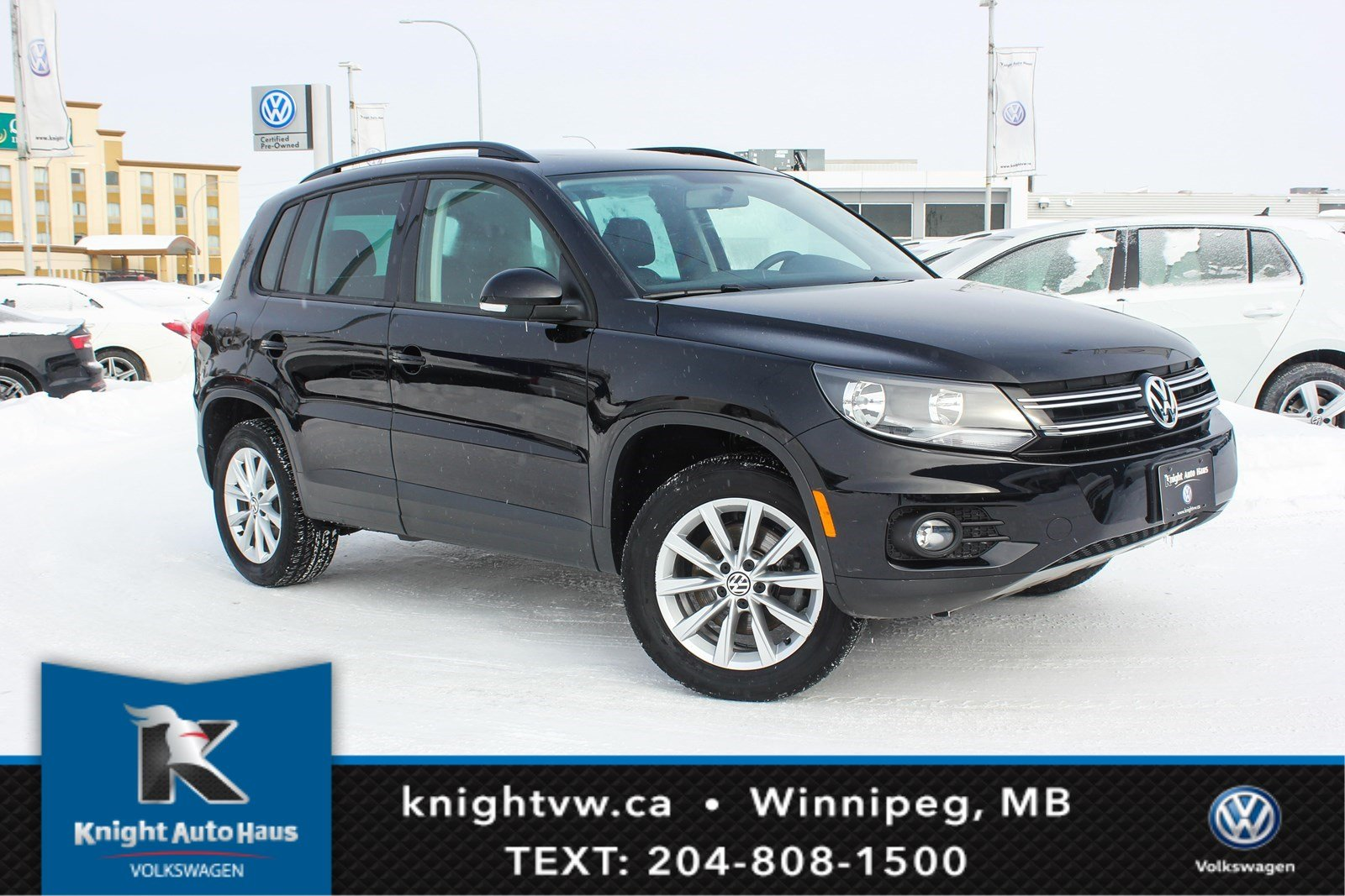 Certified Pre-Owned 2015 Volkswagen Tiguan Comfortline w/Leather/Sunroof 0.9% Financing Available OAC.